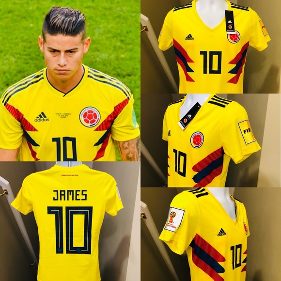 brand new ae9cb bb594 Womens Colombia James Rodriguez #10 Jersey Soccer NWT